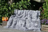 Real Toscana shearling blanket - light gray 78x61 inch lined