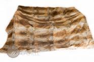 Kaninchen Felldecke Braun 200x155 cm abgefüttert