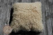 Kissen aus Tibetlammfell XF beige 45 x 45 cm