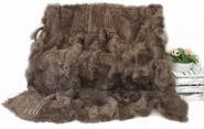Lammfell Decke Toscana Lammfell 220x200 cm Braun Rückseite Leder