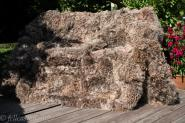 Lammfelldecke aus Tigrado Lammfell 200 x 155 cm lockig grau-braun