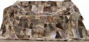 Lammfellteppich 200 x 155 cm geschoren Braun-Grau Patchwork Merino Lammfell