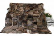 Lammfellteppich 200 x 155 cm geschoren Brauntöne Patchwork Merino Lammfell