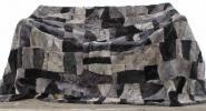 Lammfellteppich 200 x 155 cm geschoren Grau-Schwarz Merino Lammfell