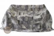 Lammfellteppich Lammfelldecke 200 x 155 cm geschoren Grautöne Patchwork Merino Lammfell