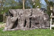 Merino Lammfelldecke 160 x 55 cm grau-braun