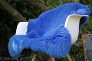 Schaffell | Lammfell azurblau - gefärbt