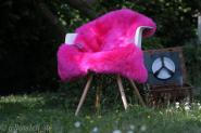 Schaffell Lammfell hot pink gefärbt 100x50 cm 100x50 cm