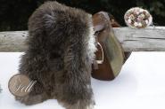 Skandinavisches Schaffell 100 x 60 cm Braun ungefärbt Lammfell