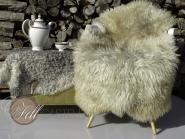Skandinavisches Schaffell 125 x 75 cm naturweiß ungefärbt Lammfell