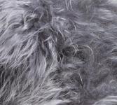 Stuhlauflage aus Island Schaffell Mittel-Grau Ø 38 cm ungepolstert