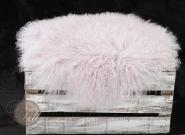 Stuhlauflage aus Tibetlammfell rund ungepolstert Ø 38 cm Flieder Ø 38 cm | Flieder