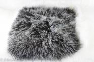 Tibet Lammfell Kissen Schwarz / Tops 40 x 40 cm Schwarz / Tops | 40 x 40 cm