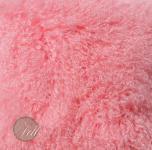 Tibet Lammfell Light Pink Rosa Tibetlammfell Tibetlamm fein gelockt 90 x 45 cm 90 x 45 cm