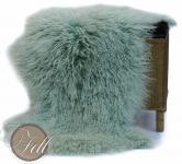 Real Tibetan Lambskin smoke green
