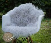 Real Tibetan Lambskin cool grey mongolian sheepskin