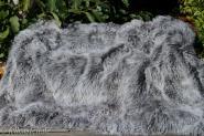 Tibetlamm Lammfelldecke Silbergrau 155x140 cm Patchwork