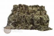 Tigrado Lammfelldecke 200x155 cm gelockt Patchwork Braun mit hellen Spitzen