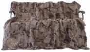 Toscana Lammfelldecke 200 x 155 cm Rückseite Leder Braun BrisaTops Patchwork