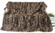 Toscana Lammfelldecke Brauntöne 200x155 cm Patchwork