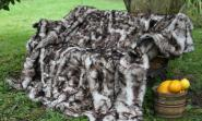 Real Toscana Shearling blanket 78x61 inch lined