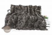 Toscana Lammfelldecke Schwarz-Grau Patchwork abgefüttert 200 x 200 cm 200 x 200 cm