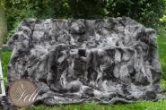 Toscana Lammfelldecke charcoal 200 x 155 cm Rückseite Leder Schaffelldecke