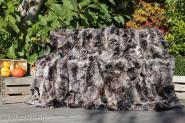 Lammfelldecke 200x155 cm Brauntöne abgefüttert Patchwork