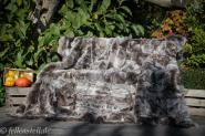 Toscana Lammfelldecke echte Lammfell Decke gefaerbt abgefuettert