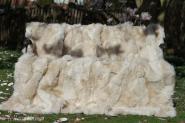 Toscana Lammfelldecke hell beige 200 x 150 cm abgefüttert