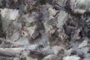 kleine Toscana Lammfelldecke 155x55 cm Grautöne Schaffelldecke Fellteppich