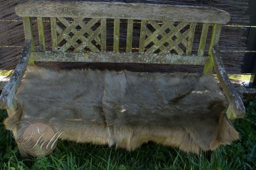 Bettvorleger 125x50 cm Grüen echtes Ziegenfell gefärbt
