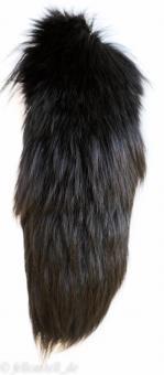 Fuchs Rute Fuchsschweif ca 25 cm Fuchsschwanz Anhänger Taschenanhänger schwarz