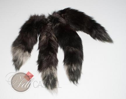 Fuchs Rute im 4er Set gefärbt 40-45 cm Fuchsschweif Fuchsschwanz Anhänger Taschenanhänger
