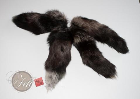 Fuchs Rute im 4er Set gefärbt 40 cm Fuchsschweif Fuchsschwanz Anhänger Taschenanhänger