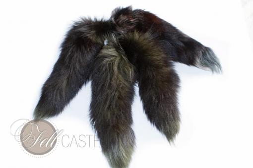 Fuchs Rute im 4er Set gefärbt 45-50 cm Fuchsschweif Fuchsschwanz Anhänger Taschenanhänger