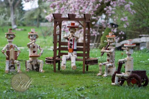 Gartenmännchen aus Birkenholz verschiedene Figuren