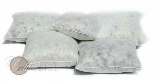 Kissen Inlet aus Schaumstoffflocken 40 x 40 cm Kissenfuellung Sofakissen 40 x 40 cm