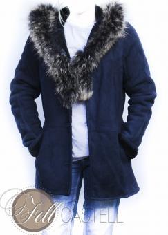 Lambskin Jacket Sheepskin blue size 38