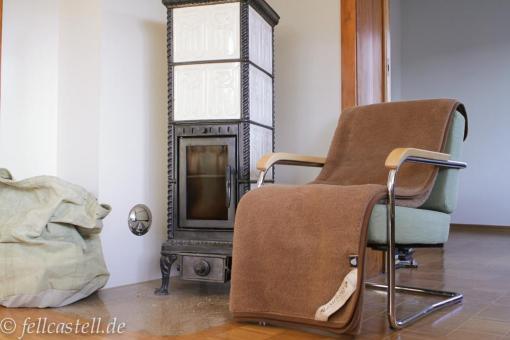 Wool Blanket 78x61 inch brown