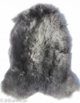 Schaffell Lammfell mittel-grau gefärbt ungeschoren