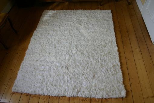 Schaffell Teppich Natur-Weiss Island Schaffell geschoren handgewebt