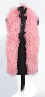 Tibetlamm Schal Tibetlammfell Boa 150 cm Rosa Light Pink