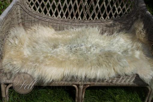 Skandinavisches Schaffell 120x59 cm weiss-grau Lammfell Naturfarben nicht gefärbt