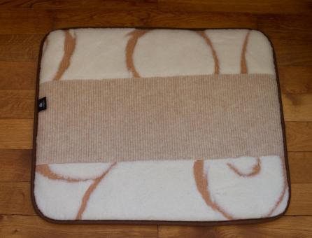 Thermounterlage für Katze oder kleinen Hund aus Wolle 60x50 cm