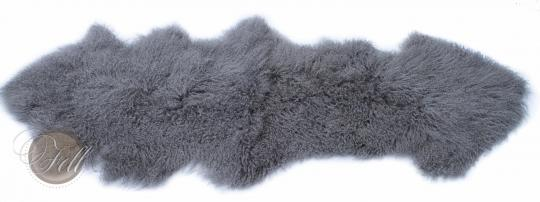 Tibet Lammfell Teppich Bettvorleger Stone Grey Tibetlamm Decke Grau