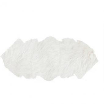 Tibet Lammfell Teppich Schnee-Weiss Tibetlamm Decke