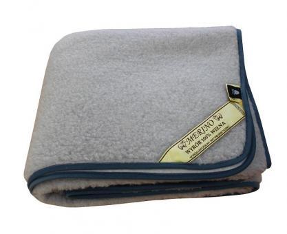 """Wolldecke aus Merinowolle Grau """"Tumbler"""" 200x160 cm"""