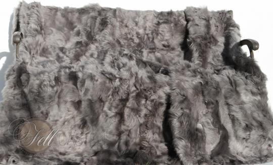 Toscana Shearling Blanket Grey 78x61 inch Patchwork