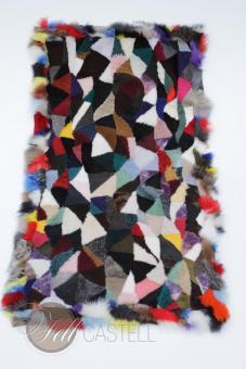 Merino Lammfelldecke 120x60 cm Felldecke Teppich echtes Lammfell